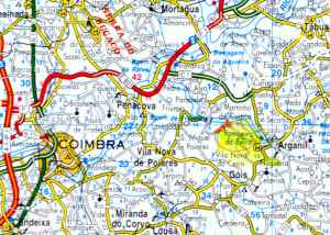 Mapa Pombeiro da Beira