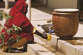Pot-in-Pot com água fesca