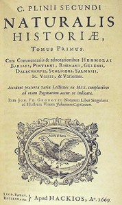 Plínio História Natural
