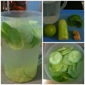 Agua de limão com pepino e hortela1