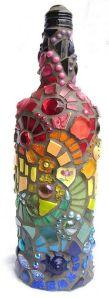 Jarras feitas com garrafas de vidro