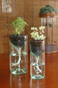 Jarras feitas com garrafas de vidro1